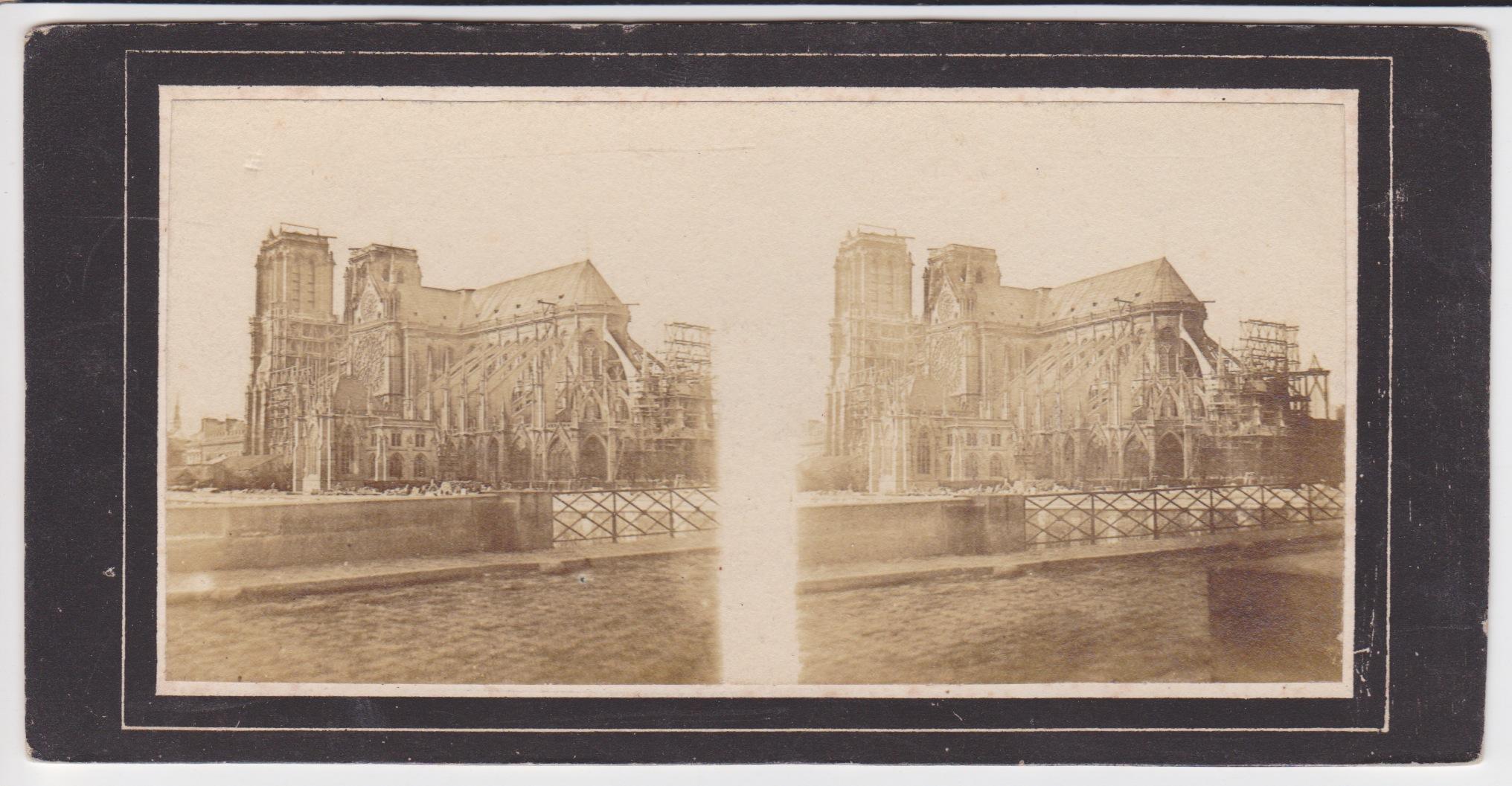 Stereo Notre Dame Parijs 1850